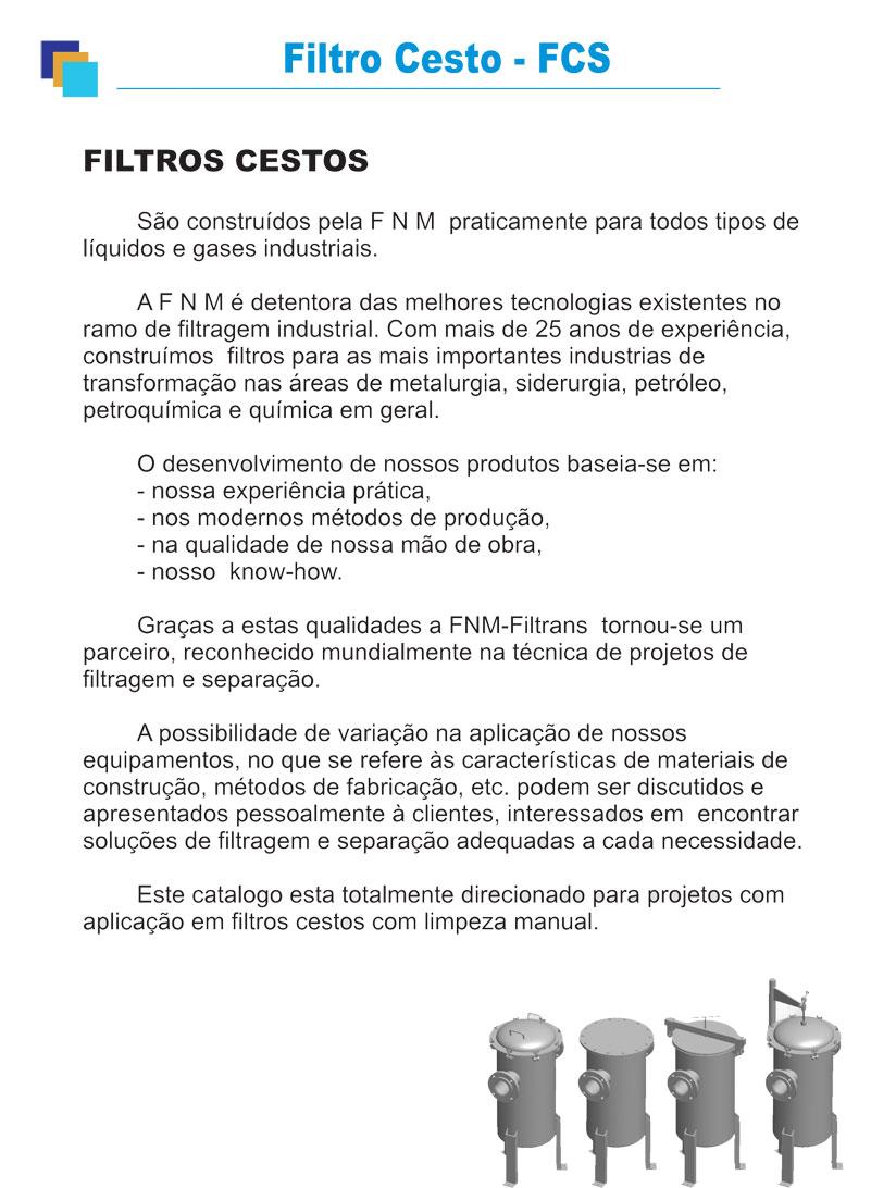 Filtro Cesto
